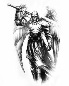 US SELLER, leg hip ankle angel wing warrior Halloween big tempoary tattoo Angel Warrior Tattoo, Warrior Tattoos, Viking Tattoos, Guardian Angel Tattoo, Norse Tattoo, Neue Tattoos, Body Art Tattoos, Tattoo Drawings, Sleeve Tattoos