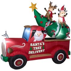 Shop Holiday Living Santa Delivery Truck Christmas Inflatable at Lowe's Canada. Find our selection of outdoor inflatables at the lowest price guaranteed with price match. 9 Foot Christmas Tree, Christmas Tree Delivery, Christmas Truck, Outdoor Christmas, Christmas Lights, Merry Christmas Ya Filthy Animal, Very Merry Christmas, Christmas Holidays, Xmas