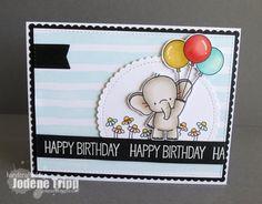 Adorable Elephants: MFT, critter sketch, Jodene Tripp