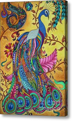 Peacock Wood Print by Rebeca Rambal. All wood prints are professionally printed, packaged, and shipped within 3 - 4 business days and delivered ready-to-hang on your wall. Choose from multiple sizes and mounting options. Peacock Images, Peacock Art, Peacock Painting, Peacock Colors, Peacock Feathers, Images Noêl Vintages, Wal Art, Bird Art, Beautiful Birds