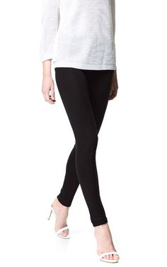 Image 2 of HIGH WAISTED LEGGINGS from Zara
