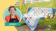 Make a Playground Quilt with Jenny Doan of Missouri Star (Video Tutorial) - YouTube Jenny Doan Tutorials, Msqc Tutorials, Quilting Tutorials, Quilting Ideas, Quilting Projects, Sewing Projects, I Spy Quilt, Star Quilts, Scrappy Quilts