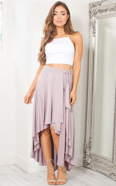 Lost Lady skirt in mauve | SHOWPO Fashion Online Shopping