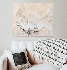 Just for kicks, canvas in a home decor setting. Working out how I present art for sale. Any pro tips? Abstract Landscape, Abstract Art, Peach Decor, Moon Painting, Abstract Expressionism, Art For Sale, Blush Pink, Contemporary Art, Kicks