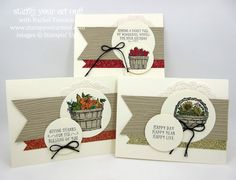 Fun basket cards made with the Basket of Wishes stamp set… #stampyourartout - Stampin' Up!® - Stamp Your Art Out! www.stampyourartout.com