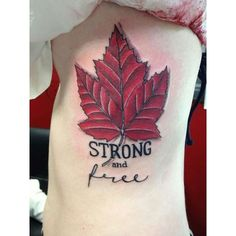 18 Patriotic Canadian Flag Tattoos ❤ liked on Polyvore featuring accessories and body art