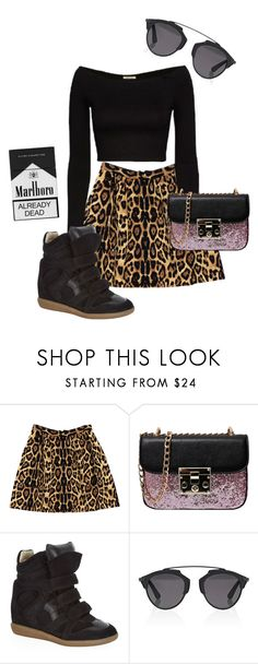 """""""take the crown"""" by romydveen ❤ liked on Polyvore featuring Pink Tartan, Isabel Marant, Christian Dior and leopard"""