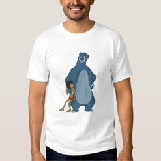 Jungle Book Baloo and Mowgli standing Disney Tshirt
