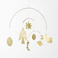The idea of creating a Christmas mobile in brass came from the longing for something magical and atmospheric to hang up on Christmas Eve. 21st Decorations, Paper Decorations, Christmas Decorations, Christmas Night, Christmas Home, Xmas, Christmas Ideas, Christmas Cookies, Mobiles