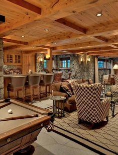 25 Sports Home Bar Design Ideas - Decoration Love Home Bar Designs, Small Basements, Basement Remodeling, Basement Ideas, Basement Decorating, Decorating Ideas, Basement House, Interior Decorating, Hotels