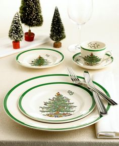 My Godmothers started me on the Spode Dinnerware Christmas Tree Collection... and I love every piece! from dinner plates to champagne flutes to serving trays, I WANT IT ALL! So cute for future Christmas parties..