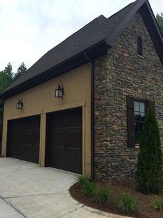 Arh asheville 1131f plan exterior 40 stone oakridge - Chestnut brown exterior gloss paint ...