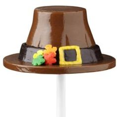 Hat's off to this fantastic fall or Thanksgiving candy treat! Mold this pilgrim hat using the Wilton Cordial Cups Candy Mold.