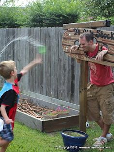 Activité anniversaire Chevalier - Jeux avec l'eau - Spéciale fête en été et au jardin