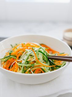 Asian Cucumber Carrot Slaw   www.kitchenconfidante.com