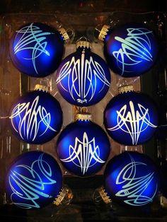 Hand Painted Christmas Balls