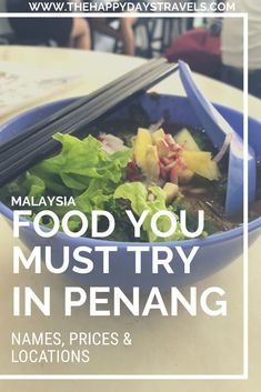 This is the ultimate list of the best foods to eat in Georgetown, Penang. Names, locations and prices included for the Malaysian food capital - Penang! Khao Soi, Working Holidays, Best Street Food, Chicken Tikka Masala, Malaysian Food, Good Foods To Eat, Asia Travel, Malaysia Travel, World Recipes