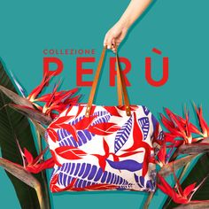 Our Peru shopping bag is perfect to spread the colors around! 100% cotton canvas with 100% leather handles