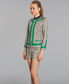 Marissa Webb short and jacket set - made in NYC #madeintheusa #madeinnyc