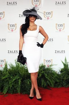 celebrities at the races. Kim Kardashian
