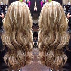 Beautiful blonde highlights