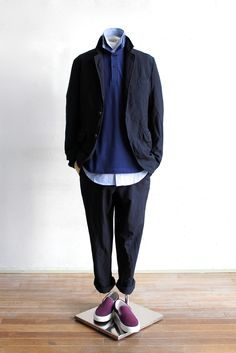 Suggestion of The Comme des Garçons Homme Deux Style Modern Mens Fashion, Korean Fashion Men, Cool Outfits, Casual Outfits, Streetwear Summer, Gents Fashion, Winter Outfits Men, Japanese Men, Street Wear