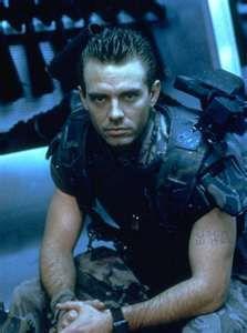 Michael Biehn in Aliens (1986) as Cpl. Hicks. Died in Alien 3 (1992).