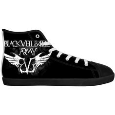 Rock Band BVB Black Veil Brides Men's Canvas Shoes Men White Low Top... ($81) ❤ liked on Polyvore featuring men's fashion, men's shoes, men's sneakers and shoes