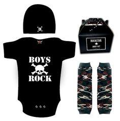 Punk Rock Baby Boy Rockstar Kit black romper one by lowleepop, $34.00