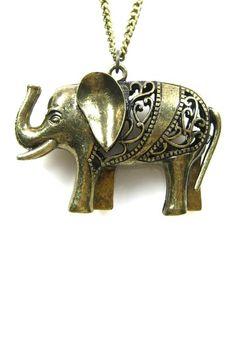 Eye Candy Los Angeles Elephant Pendant (I love elephants!)