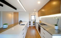 Timber Tones Add Richness to Kitchen - Kitchens - RESIDENTIAL INTERIORS - Neo Design