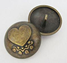 Carved-heart-style-20pcs-big-bronze-metal-shank-buttons-lot-3-4-or-19mm