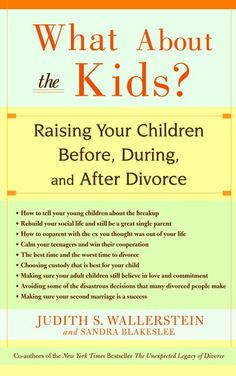 Now in paperback--a groundbreaking guide that tells parents how to help their children at the time of the breakup and in the many years that follow within the post-divorce and remarried family--from t