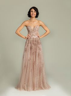 Strapless long Jovani lace gown Birthday Ball Maybe?? :)