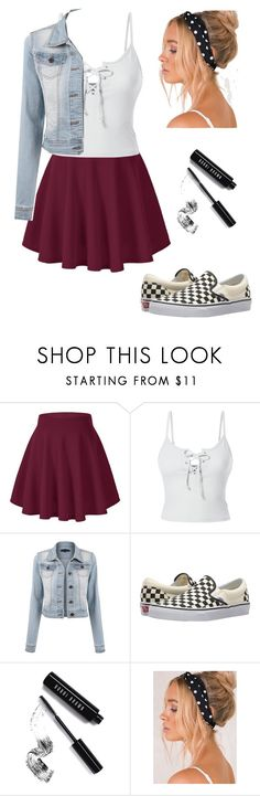 """""""skater"""" by ximenavbieber3 on Polyvore featuring LE3NO, Vans and Bobbi Brown Cosmetics"""