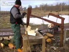▶ Ukrainian man wood cutting machine - YouTube ---OK this is brilliant