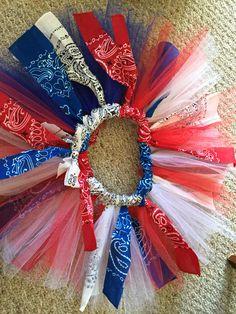 4th of July tutu Star spangled bandana tutu All American bandana tutu Facebook.com/WinterAnnCreations