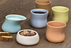 kahlerdesign.com mano cups, milk jug and sugar bowl.