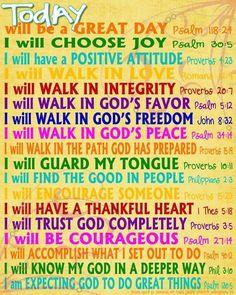 Biblical affirmations #dailyaffirmations