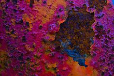 Pink, purple, royal blue, orange and rust [Black Islands by Artifex Textures on… Rust Paint, Rust In Peace, Creation Photo, Peeling Paint, Nature Artwork, Rusty Metal, Art Furniture, Texture Art, Color Theory