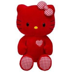 "Build A Bear Valentine Hello Kitty Red Limited Edition New Plush 17"" Sold Out 