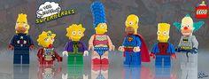 Lego Minifigures 'The Simpsons' Superheroes Series Legos, Lego Simpsons, Lego Building Blocks, Lego People, Lego Minifigs, Cartoon Tv Shows, Cool Lego, Lego Friends, Lego Marvel