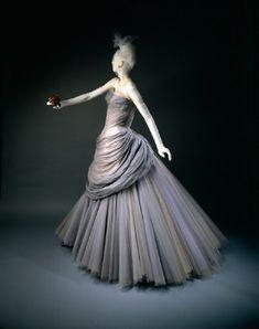 """Swan"" dress   Charles James   American   1955   silk, nylon   Wadsworth Atheneum Museum of Art"