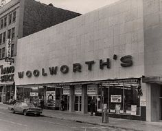 Old store front of #Woolworth's.  Such memories.  As a kid I would buy candy here after ballet classes on Saturday or eat at the Luncheonette with my Mom.