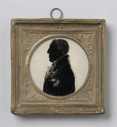 Anonymous | Silhouet portret van Arthur Wellesley, Duke of Wellington (1769-1852), Anonymous, c. 1810 - c. 1820 | Silhouet portret van Arthur Wellesley, hertog van Wellington (1769-1852). Buste, in profiel naar links. Onderdeel van de collectie portretminiaturen.