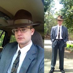 The new vintage chocolate brown Brock fedora with a vintage tie from the late…