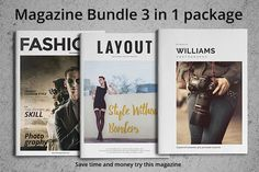 Magazine Bundle  by fahmie on @creativemarket #magazine #bundle #package download from https://crmrkt.com/qpP1P