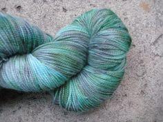 Sock Yarn  Superwash BFL and Nylon  Mint Choco by GraceandFiber, $19.75