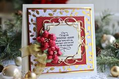"""Gold and red really do make the perfect combination for Winter crafting! Craft your own darling handmade cards with these merry and bright dies from the Spellbinders """"Christmas"""" Collection! Spellbinders Christmas Cards, Spellbinders Cards, Christmas Cards 2018, Xmas Cards, Handmade Christmas Gifts, Christmas Crafts, Christmas Christmas, Christmas Recipes, Becca Feeken Cards"""