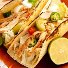 Cilantro-Lime Marinated Chicken Tacos: Easy meal idea! Marinate the chicken, and then grill!